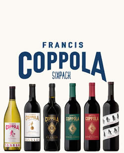 francis coppola sixpack eur 119 90 wein aus. Black Bedroom Furniture Sets. Home Design Ideas