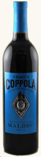 francis ford coppola celestial blue label malbec diamond. Black Bedroom Furniture Sets. Home Design Ideas