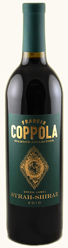 francis ford coppola syrah shiraz green label diamond. Black Bedroom Furniture Sets. Home Design Ideas